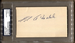 Ed Walsh Signed 3x5 index card Baseball HOF Lifetime 1.82 E.R.A. White Sox D.1959