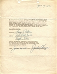 George Mikan Signed 1950 Minneapolis Lakers Basketball Endorsement Contract