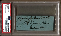 Henry Chadwick Baseball Hall of Fame Cut Signature Autograph Document D.1908 PSA/DNA