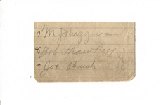Miller Huggins Signed Album Page circa 1922-24 PSA/DNA LOA