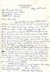 "Charles ""Kid"" Nichols Signed Handwritten Letter Awesome Content - PSA/DNA LOA"