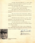 Leo Durocher Signed 1953 Document Testimonial for Chesterfield Cigarettes