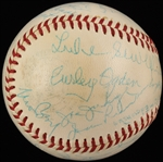 Washington Senators Greats Multi-Signed Baseball w/ Moe Berg, Goose Goslin, Sam Rice JSA LOA