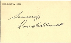 Don Schlundt Signed GPC postmarked from 1953 Indiana Basketball HOF D.1985