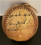 1940 Detroit Tigers AL Champions Team Signed Baseball w/ Clark Griffith & William Harridge