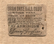 1905 Pittsburgh Pirates Exposition Park Super Rare Ticket Stub – Honus Wagner