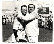 "1939 Babe Ruth and Lou Gehrig ""Lou Gehrig Day"" 1960's Re-strike Photo"