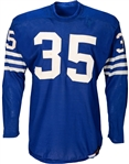 Alan Ameche 1955 Game Worn Baltimore Colts Rookie Jersey – Photo Matched