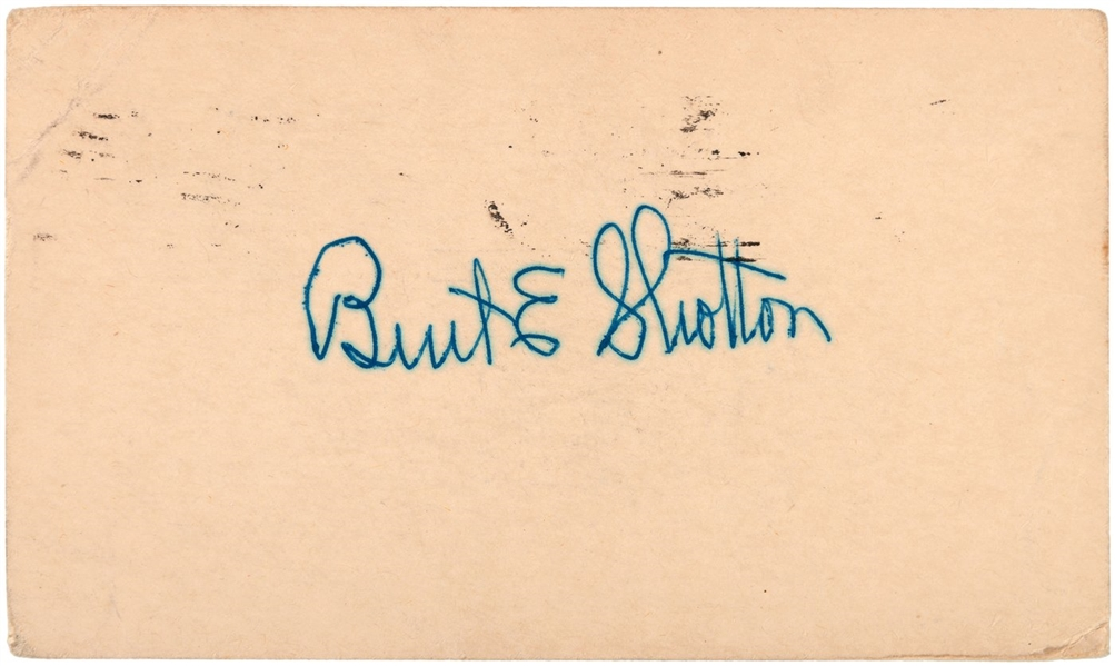 Burt Shotton Brooklyn Dodgers D.1962 Signed GPC Jackie Robinson Manager JSA