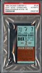 May 3, 1954 Chicago Cubs vs Pittsburgh Pirates Ticket Stub Ernie Banks Career Home Run #4