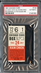 July 24, 1951 Chicago Cubs vs Brooklyn Dodgers Ticket Stub Roy Campanella & Gil Hodges HR