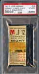 July 22, 1947 St. Louis Cardinals vs NY Giants Ticket Stub Stan Musial HR #62 Mize HR #234