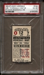 May 26, 1954 St. Louis Cardinals vs Chicago Cubs Ernie Banks Rookie HR #8 Ticket Stub