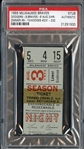 August 3, 1955 Milwaukee Braves vs Brooklyn Dodgers Stub – Gil Hodges Grand Slam Home Run