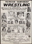 1984 Professional Wrestling Broadside with Andre The Giant, Super Fly Snuka, Rocky Johnson Historic