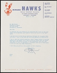 Ben Kerner St Louis Hawks Founder Historic Signed Letter to Minneapolis Lakers owner