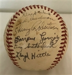 1949 Washington Senators Team Signed Baseball w/ Julio Gonzales & Dizzy Sutherland