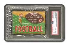1954 Bowman Football 5 Cent Unopened Wax Pack PSA