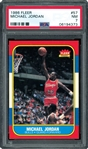 1986 Fleer #57 Michael Jordan Rookie RC Basketball Card PSA 7 Near Mint
