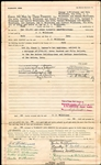 J.L. James Leslie Wilkinson Signed AUTO Document Baseball HOF Negro Leagues PSA/DNA LOA