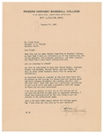 Rogers Hornsby Signed Letter with Great Baseball Content HOF D.1963 PSA/DNA LOA