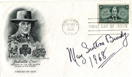 May Sutton Bundy signed First Day Postal Cover FDC – 1st Wimbledon Championship D.1975
