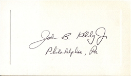 John B. Kelly Jr. Signed Presentation Card 4 X Olympian Brother Of Grace Kelly D.1985