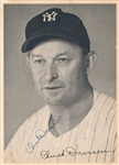 Chuck Charlie Dressen Signed AUTO Photo Yankees Dodgers D. 1966