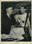 Clark Griffith & Bucky Harris show off Their Sports Memorabilia 1940 Original press photo