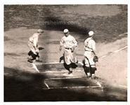 Dave Bancroft Scores the 1st Run in the Last Game of the 1921 World Series Original Photo