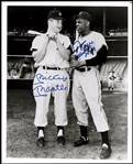 Mickey Mantle & Willie Mays Dual Signed AUTO 8x10 Photo PSA/DNA Graded 10