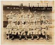 1935 KANSAS CITY BLUES BASEBALL TEAM SIGNED AUTO PHOTO w/ Wilcy Moore JSA LOA