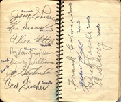 Early 1940s BASEBALL STARS MULTI-SIGNED BOOK ALBUM 80 + Autographs JSA LOA