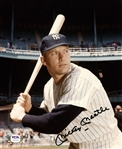 Mickey Mantle Vintage Signed AUTO 8x10 Color photo Yankees PSA/DNA LOA