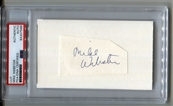 Mike Webster Pittsburgh Steelers Pro Football HOF Cut Signature Autograph PSA/DNA
