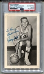 Jerry West L.A. Lakers original photo Signed AUTO circa 1960 with Note PSA/DNA