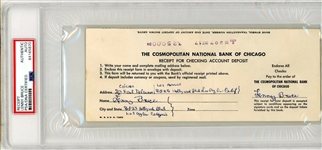 Lenny Bruce Double Signed Bank Deposit Slip The G.O.A.T. of Comedy PSA/DNA