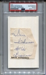 Gene Hickerson Signed Autograph Display Cleveland Browns Pro Football HOF PSA/DNA
