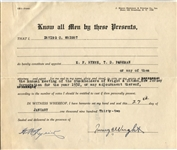 Irving Wright Tennis Champion Signed Document D. 1953