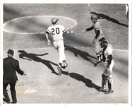 Richie Hebner Hits Home Run in Game 2 of 1971 World Series Original Photo Pirates Orioles