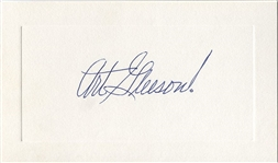 Art Gleeson Signed AUTO Presentation Card Yankees Red Sox Oakland Oaks Broadcaster