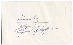 Earl Gillespie Signed AUTO Presentation Card Milwaukee Braves Broadcaster