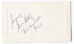 Gene Kelly Signed AUTO Presentation Card Phillies & Reds Broadcaster