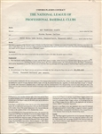 1986 Steve Carlton San Francisco Giants Signed Major League Baseball Player Contract