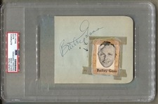 Bailey Goss Signed Album Page Baltimore Colts & Orioles Broadcaster D.1962 PSA/DNA