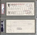 Eric Dickerson Signed AUTO NFL Atlanta Falcons Payroll Check Super Rare PSA/DNA