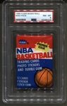 1986 Fleer Basketball Unopened Wax Pack Wax Pack PSA 8 NM-MT