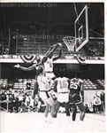 1961-62 Walt Bellamy Goes Head on vs. Bill Russell Chicago Packers vs Celtics Original TYPE 1 Photo PSA/DNA LOA