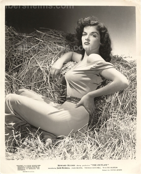 "Jane Russell ""The Outlaw"" George Hurrell in the Hay Original TYPE 1 Photo PSA/DNA LOA"