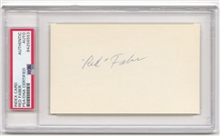 Red Faber Signed AUTO 3x5 Index Card Baseball HOF – 1919 White Sox PSA/DNA